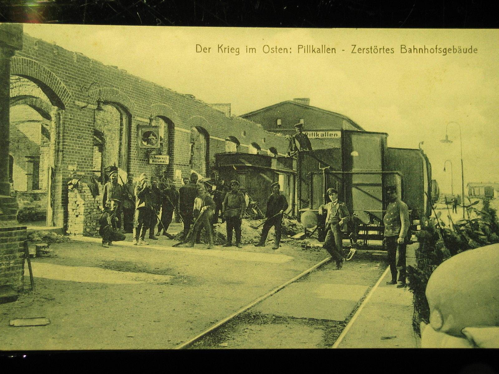 Pillkallen-1915-East-peussia-zerstorter-Bahnhof-destroyed-station.JPG