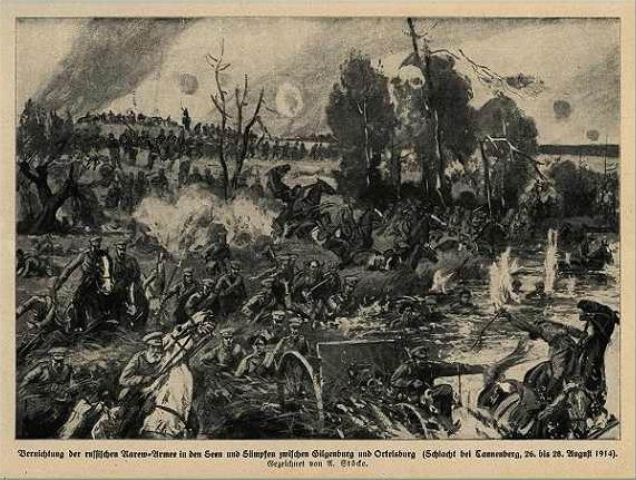 from a German serial history of the war - a battle scene during Tannenberg.jpg